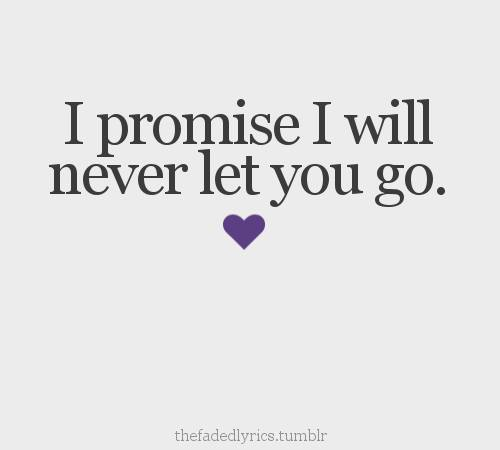 Quotes & Inspiration: I promise i will never let you go