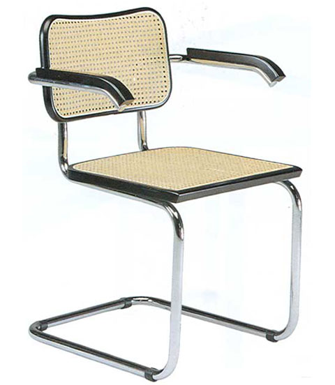 Marcel Breuer Chair with armrests Cesca S32 1928