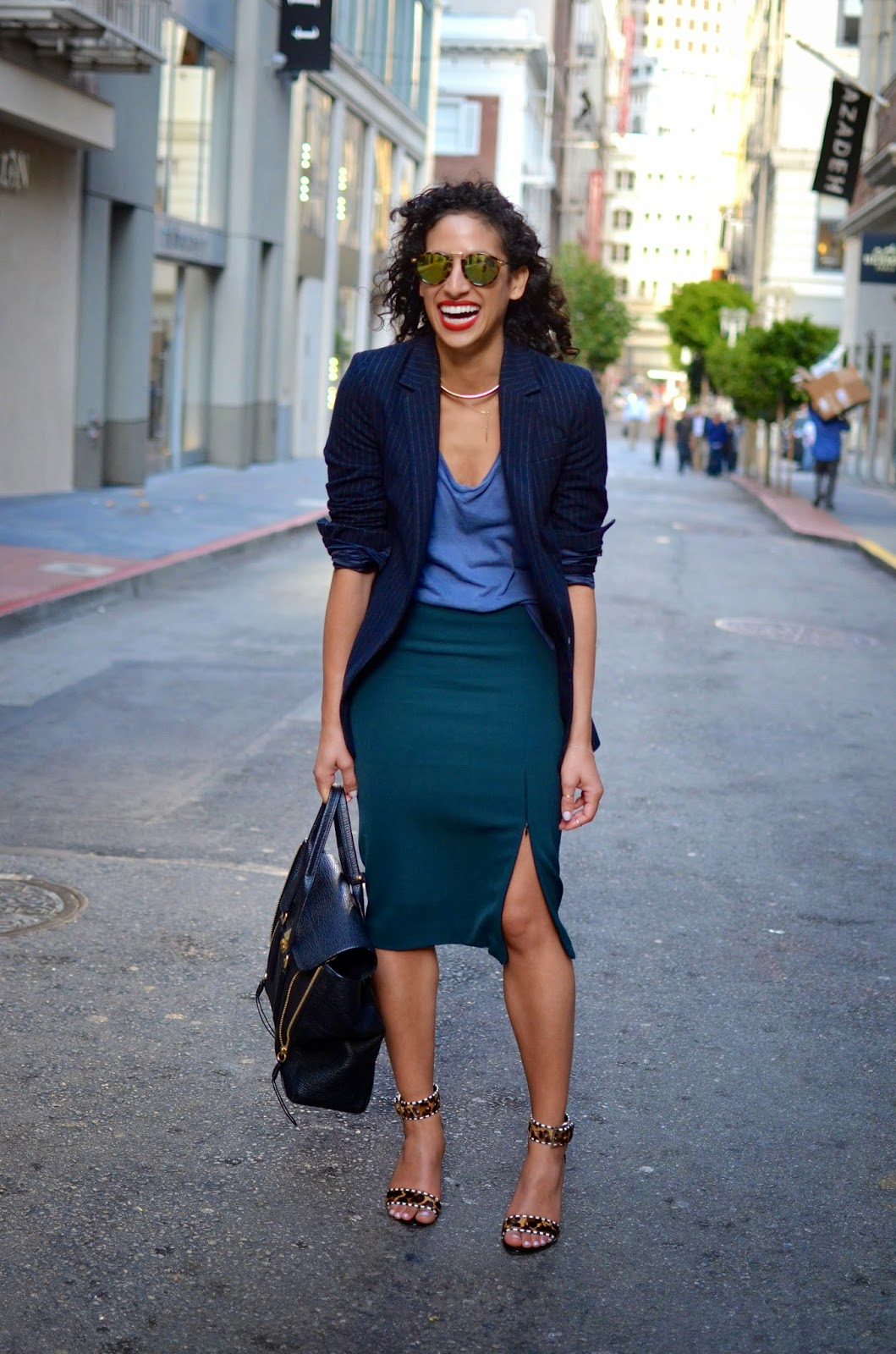 style in the city, maiden lane sf, red lipstick, Dress for Success power outfit