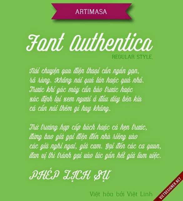 [Script] Authentica Regular Việt hóa
