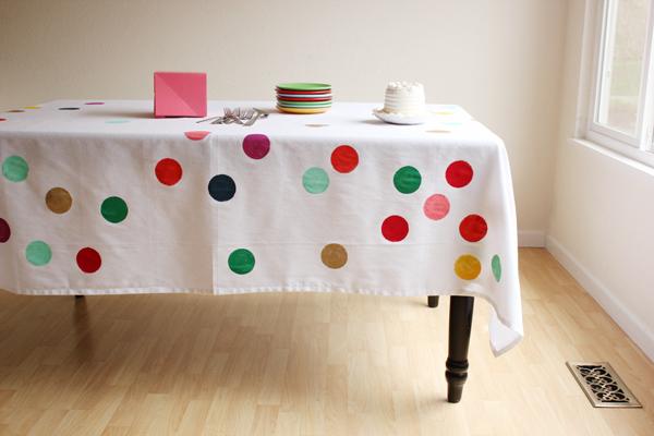 faça você mesmo toalha de mesa