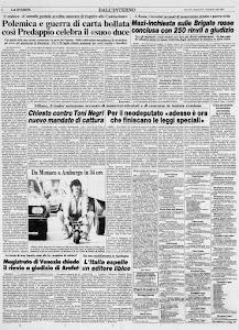 LA STAMPA 22 LUGLIO 1983