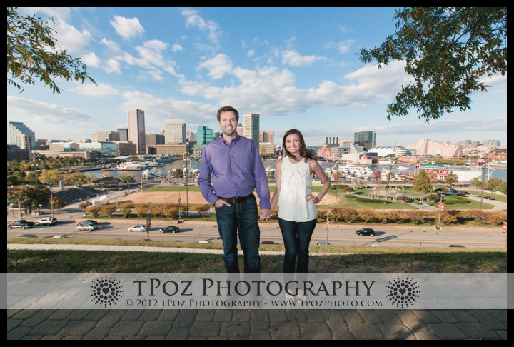 Federal Hill Park Engagement Photo