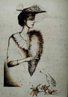 Дама, худ. Нина Атанасова