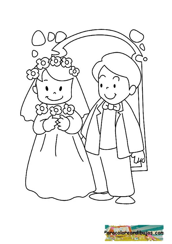 boda para colorear