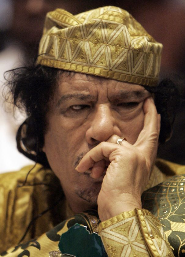 muammar al gaddafi young. Muammar al-Gaddafi speaks to