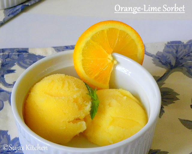 All natural orange-lime sorbet