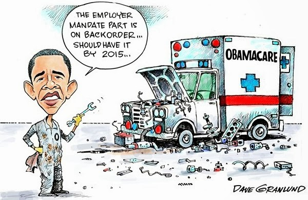 obama care,ACA, political cartoon