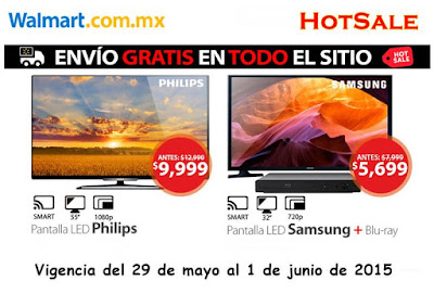 Hot Sale ofertas de TV walmart 29-5-15