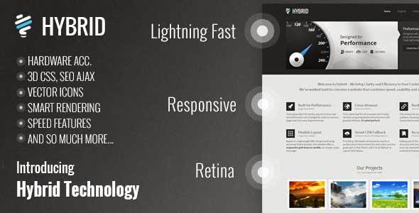 Hybrid Responsive Retina One-Page WordPress Theme