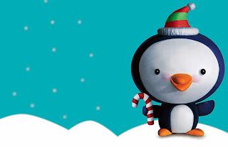 Tarjeta de Navidad Pinguino