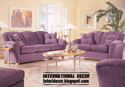 purple living room furniture, purple sofas, purple chairs