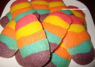 Resep Kue Lidah Kucing Rainbow Enak Indah Banget