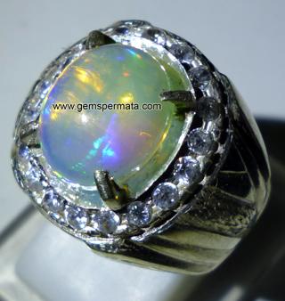 opal kalimaya toko batu permata mulia cincin portal cincin opal ...