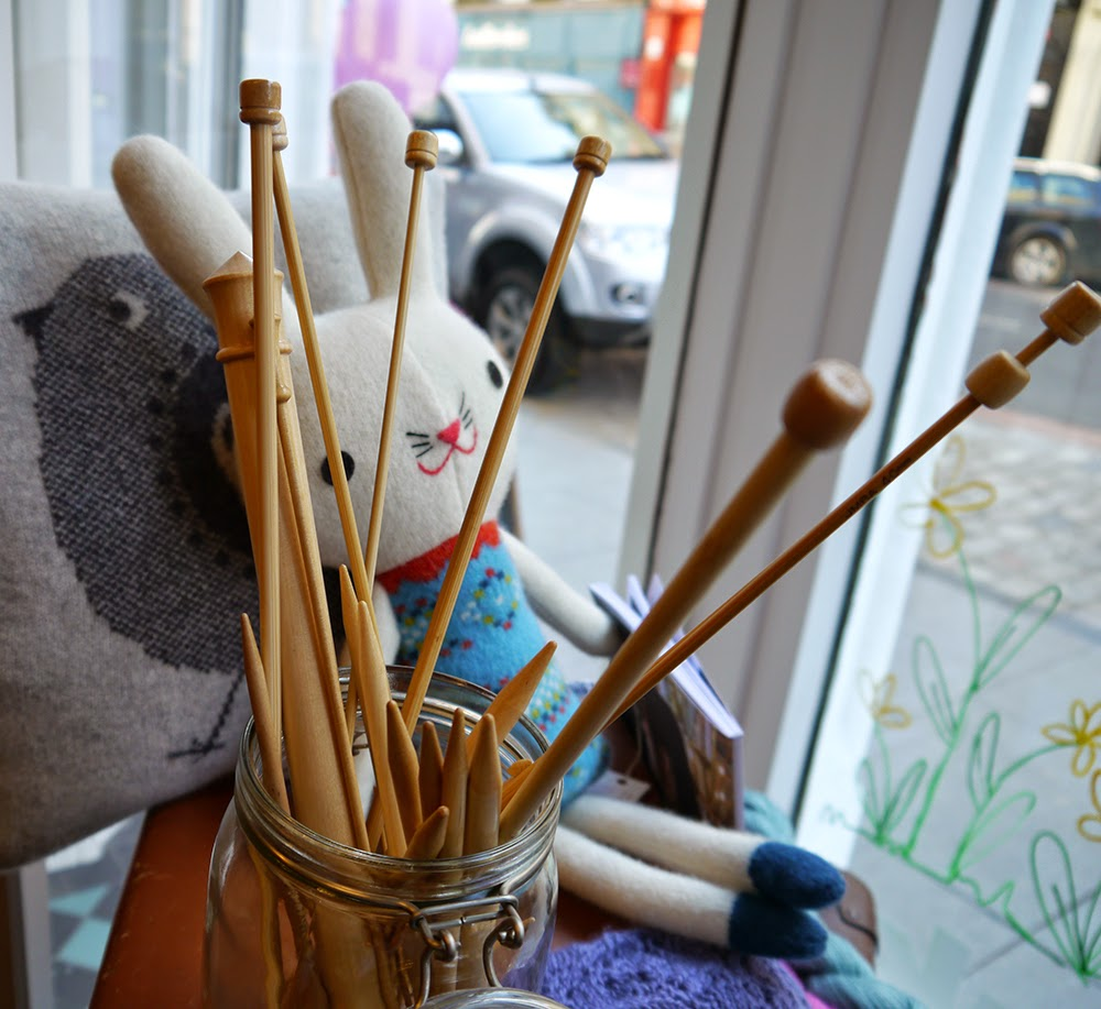 Dundee, craft shop, grand opening, sewing, crafting, DIY, supplies, haberdashery, The Haberdashery Project, new store, Wool & Co, knitting, knitting needles, knitted toy, window display