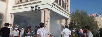 Le siège du gouvernorat de Sfax incendié