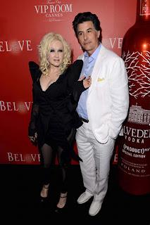 Cyndi Lauper y vodka belvedere