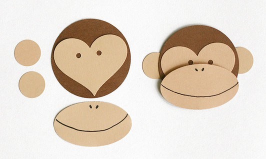 monkey face template for cake - art and craft for kiddos on pinterest paper plates