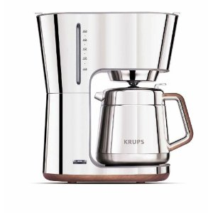 Coffee Maker Reviews: Krups KT600 Silver Art Collection 10 European Cup Thermal Carafe Coffee Maker