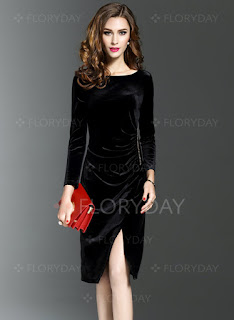 Long Sleeve Knee-Length Bodycon Dress