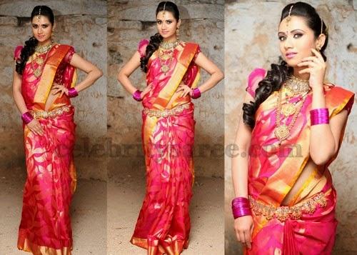 Sunitha Rana Pink Bridal Sari