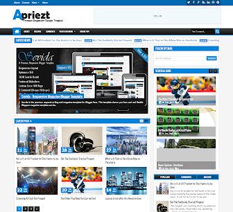 Apriezt Responsive Magazine/News Blogger Template