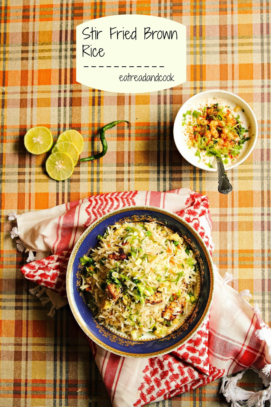 how to cook healthy and easy stir fried brown rice