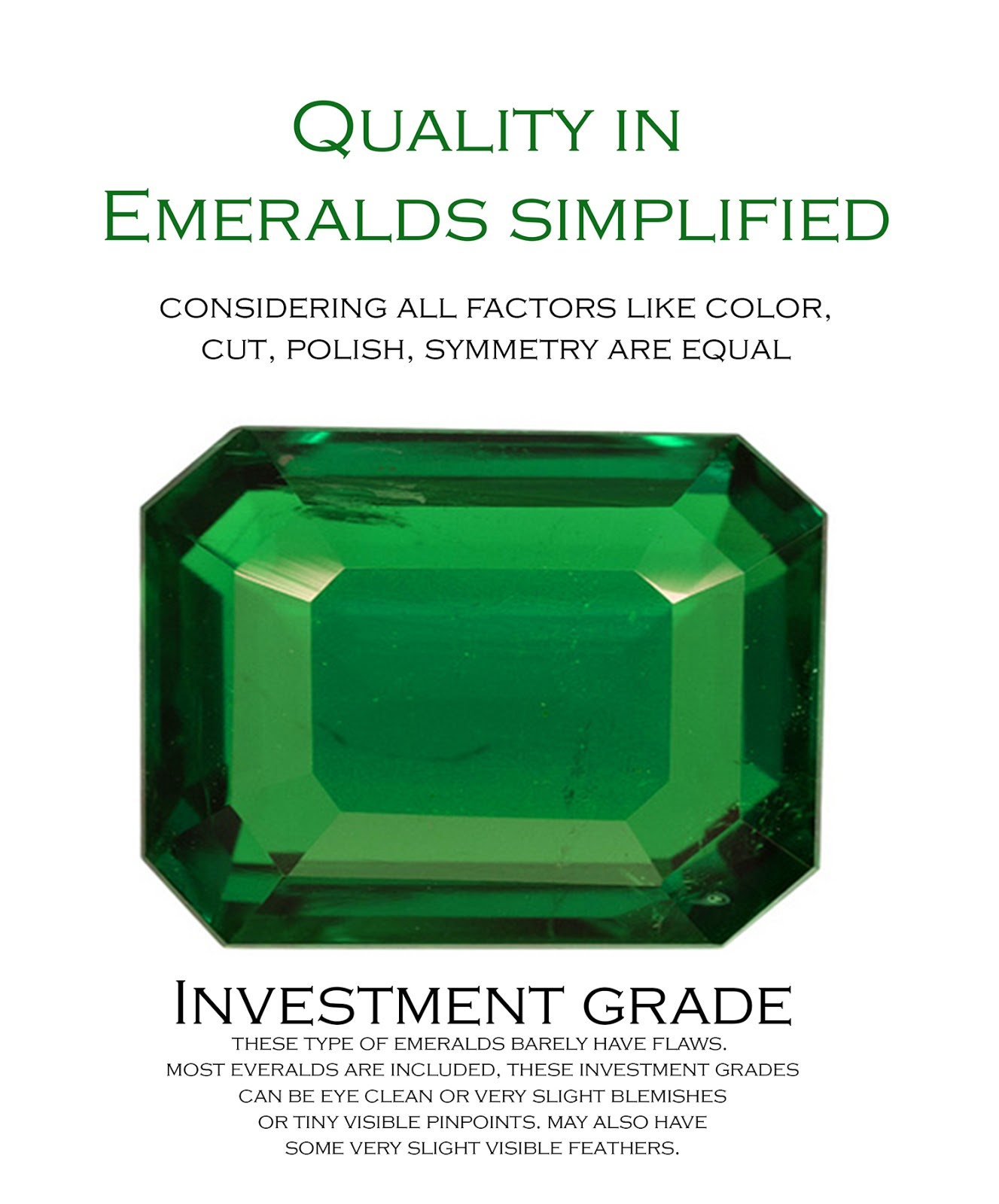 gemstones emerald acrylic gemstone product flat octagon vintage back s shop green