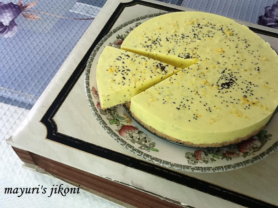 Mayuri S Jikoni 314 Lemon Poppy Seed Cheesecake