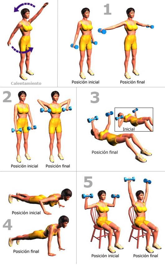 La perfección no tiene calorías ..: Ejercicios para brazos