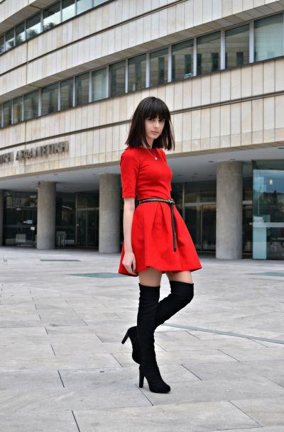 OUTFIT DEL Du00cdA Look Vestido Rojo De Zara