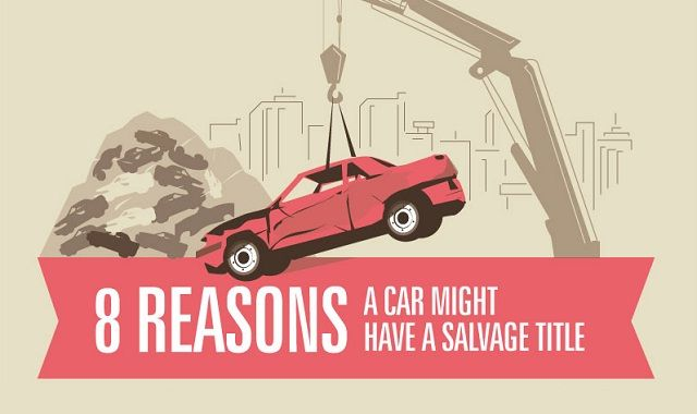 8 Reasons A Car Might Have A Salvage Title infographic  Visualistan