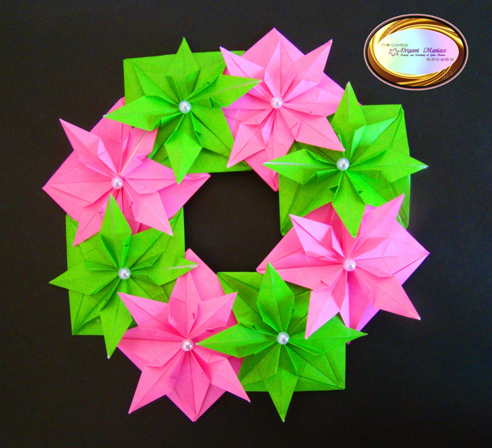 origami maniacs beautiful origami christmas wreath