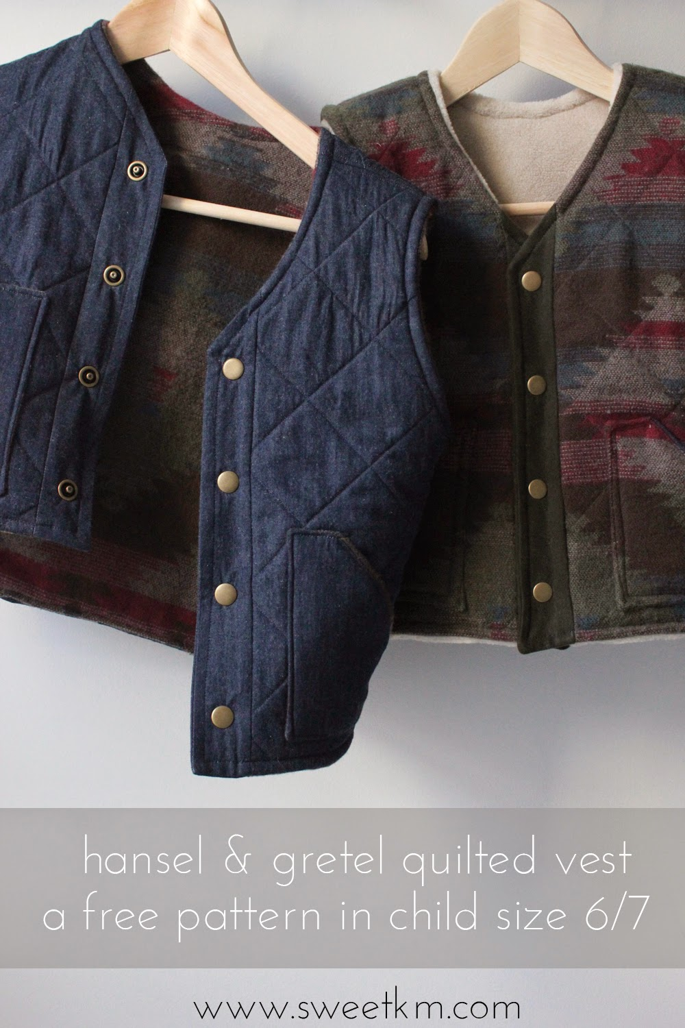 SweetKM: Free Pattern: Hansel & Gretel Quilted Vest Instructions
