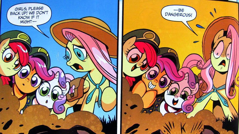 The CMC and Fluttershy