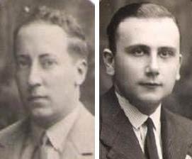 Los ajedrecistas Martín de Ortueta  y  Vicente Almirall