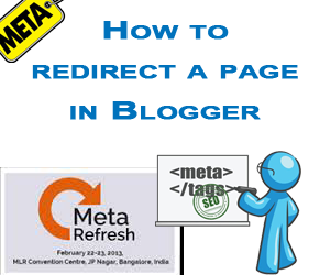 redirect a page in blogger