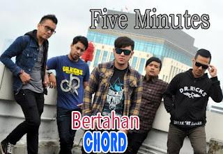 Lirik dan Chord(Kunci Gitar) Five Minutes ~ Bertahan