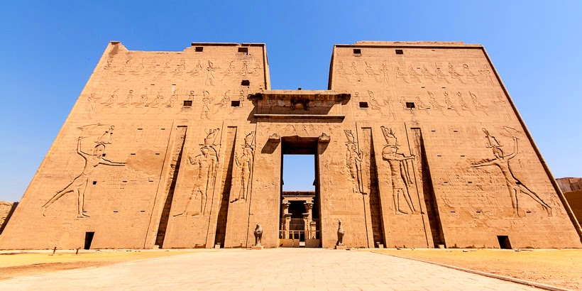 Temple of Horus. Edfu, Egypt.