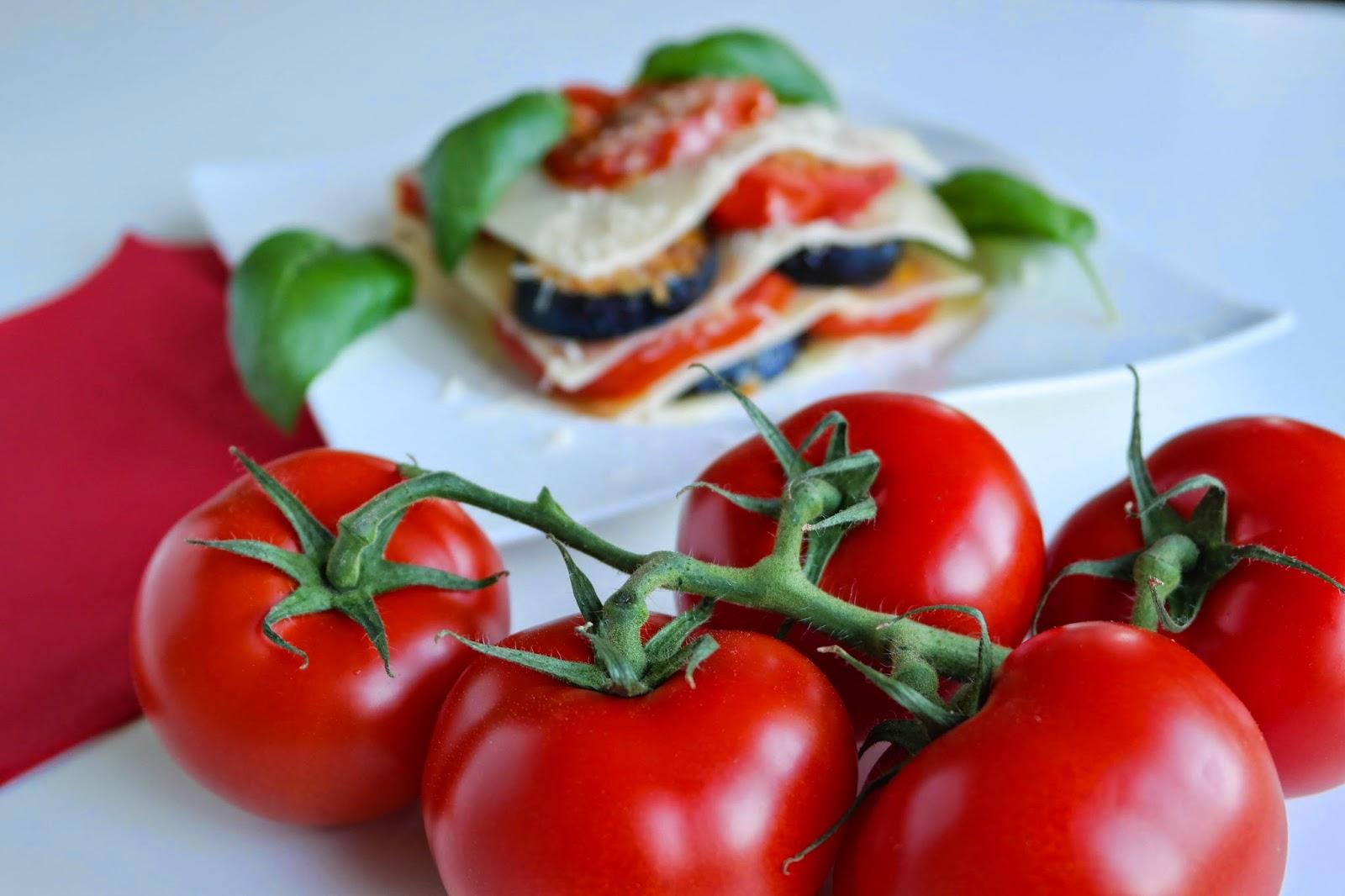 Lasagne mit Auberginen und Tomaten