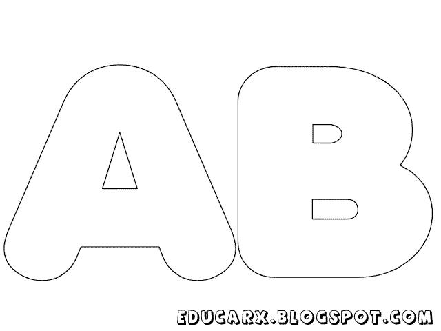 Molde de letras grandes ab