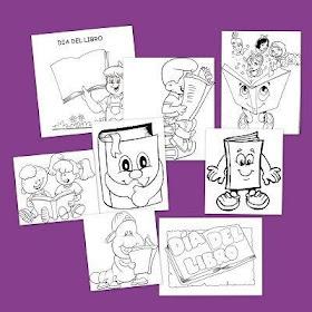 Dibujos para colorear el Día del Libro
