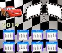 Moldura calendário carros