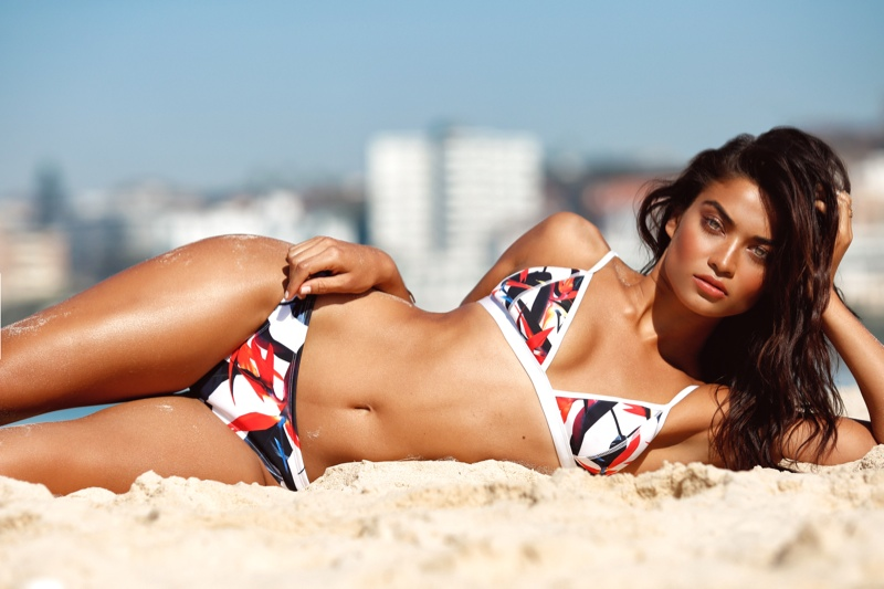 Kookai Swim Spring/Summer 2016 Campaign featuring Shanina Shaik