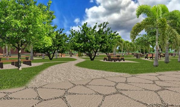 Dise o 3d de un parque conceptual ecol gico parque para for Diseno jardines exteriores 3d gratis