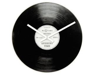 zegar w kształcie płyty winylowej