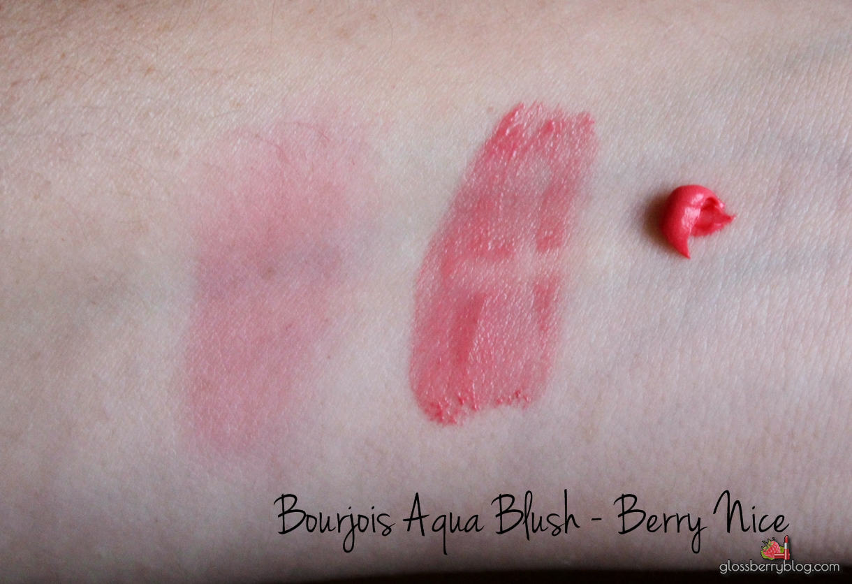 Bourjois Aqua Blush - Berry Nice review swatch סומק בורז'ואה feelunique פילוניק גלוסברי glossberry blog