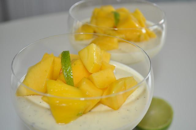 Panna cotta med mango