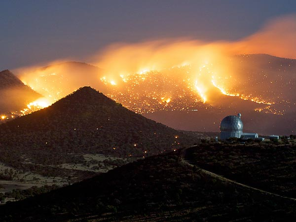 Kebakaran hutan di Texas