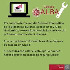 El catálogo ALBA se encuentra FUERA DE SERVICIO.